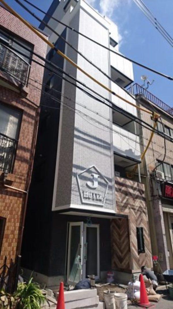 大阪市西区肥後橋での新築ホテル完成前のサムネイル